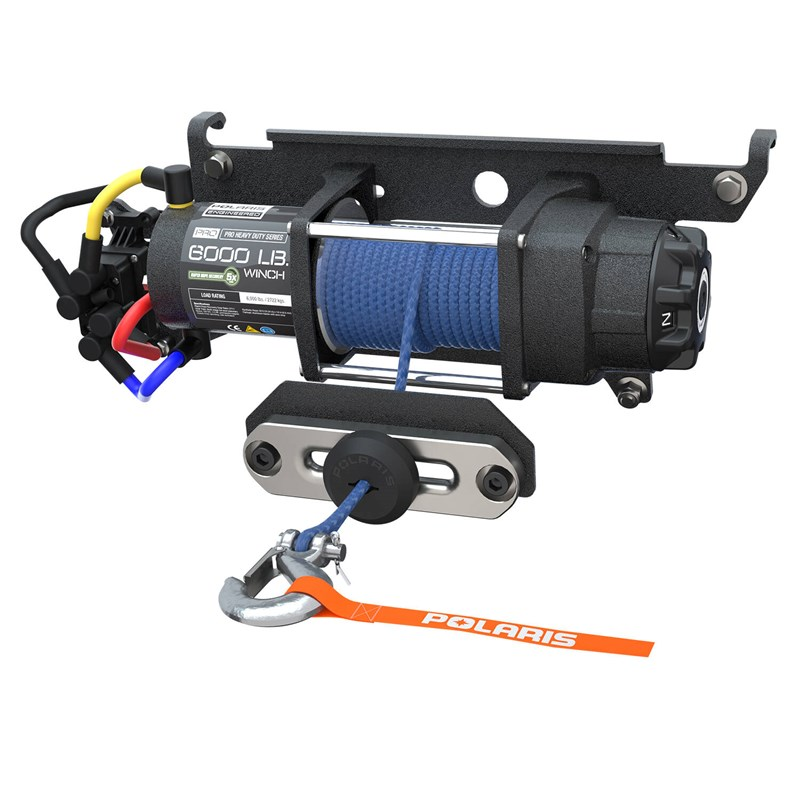 Polaris Pro HD 6000 Lb Winch Rapid Rope Recovery
