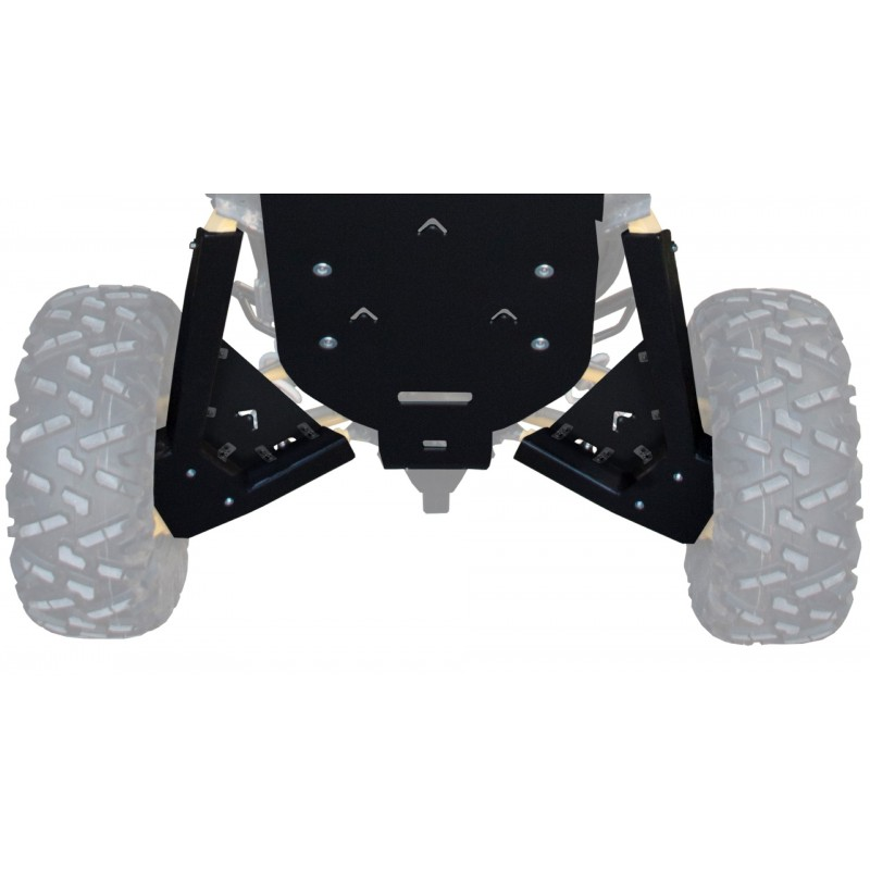 XRW Rear A-Arm Guards with Shock Protection