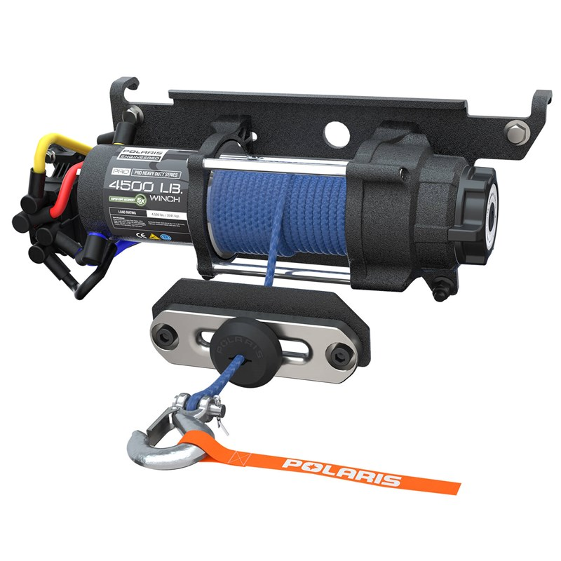 Polaris Pro HD 4500 Lb Winch Rapid Rope Recovery